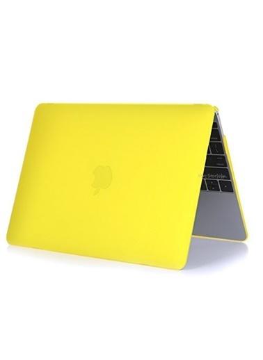 """Mcstorey MacBook Retina A1398 15"""" 15.4"""" Kılıf Kapak Koruyucu Hard Incase Mat Sarı"""